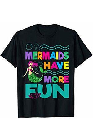 Cute Ocean Beach Swimmer Gear Mermaids Have More Fun Swimming Pool Beach Mermaids Swim T-Shirt