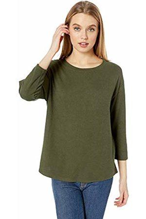 Daily Ritual Cozy Knit Bateau-Neck 3/4-Sleeve Tunic Shirt