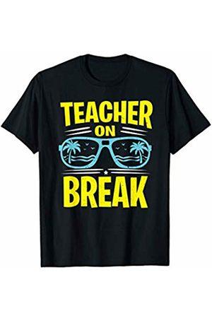 Last Day of School Shirts Teachers by Crush Retro Last Day of School Sunglasses Palm Tree Teacher On Break T-Shirt