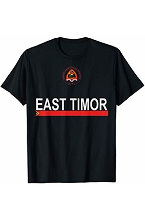 Timorese National Sports Designs Timorese Sports-style National Emblem and Flag of East Timor T-Shirt