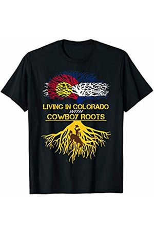 FanPrint Wyoming Cowboys Living Roots T-Shirt - Apparel