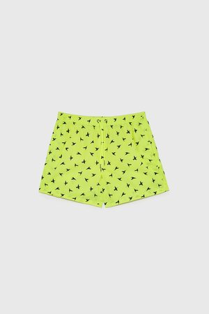 Zara Bird print swimming trunks