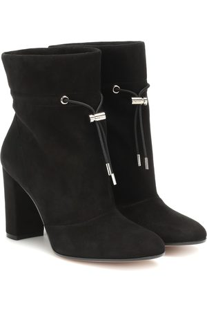 Gianvito Rossi Maeve 85 suede ankle boots