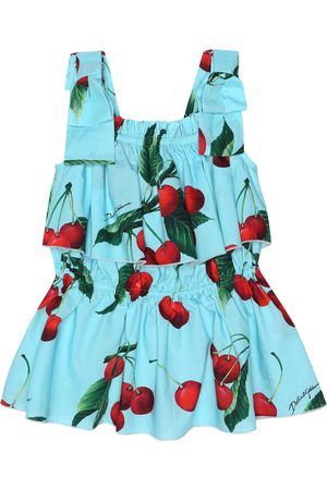 Dolce & Gabbana Exclusive to Mytheresa – cherry printed cotton top