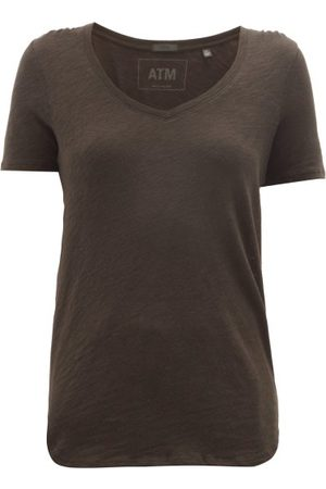 ATM Anthony Thomas Melillo V-neck Slubbed-cotton T-shirt - Womens