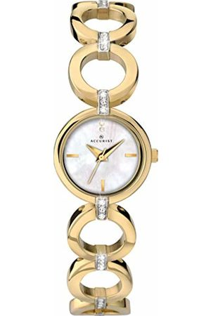 Accurist Womens Analogue Classic Quartz Watch with Brass Strap 8256