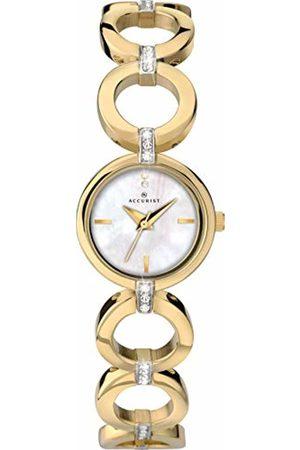 Accurist Womens Analogue Classic Quartz Watch with Brass Strap 8256