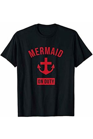 Mermaid Swim Tee Shirt Co Mermaid On Duty Swimmer Funny Summer Swim Top Swimming Gift T-Shirt