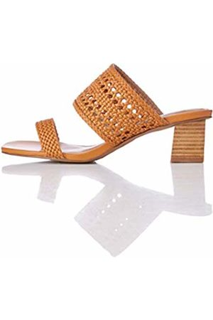 FIND Women Sandals - Two Band Woven Sandal Open Toe, Braun