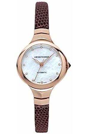 Emporio Armani Womens Analogue Automatic Watch with Leather Strap ARS8250