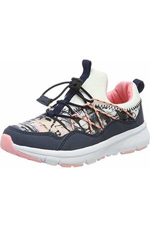 LICO Girls' Chris Low-Top Sneakers, Weiß/Marine/Rosa