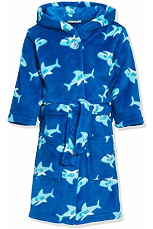 Playshoes Boys's Fleece Hooded Bathrobe Shark