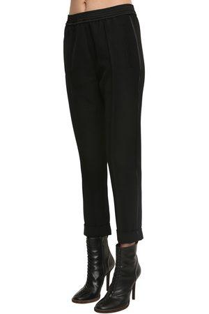 Haider Ackermann Elastic Straight Leg Virgin Wool Pants