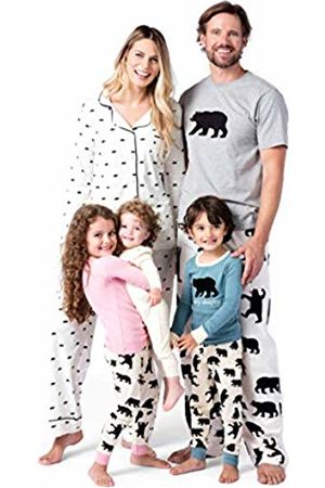 Hatley Men Pyjamas - Little Blue House by Men Bears On Natural Flannel Pyjama Bottoms