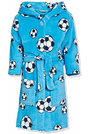 Playshoes Boy's Football Fleece Hooded Bathrobe
