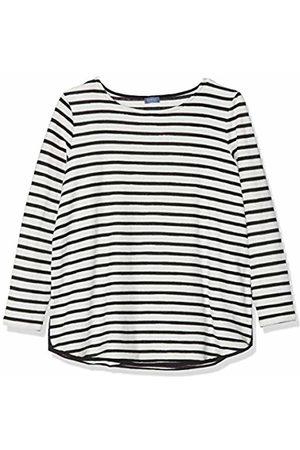 Samoon Women's 272012-29107 Long Sleeve Top, ( /Offwhite Ringel 1103)