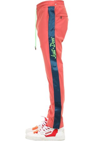 JUST DON Nylon Tearaway Pants W/ Side Snaps