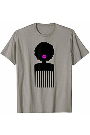 Comb Shape Co Hair Afro Woman with a Comb Shape T-Shirt