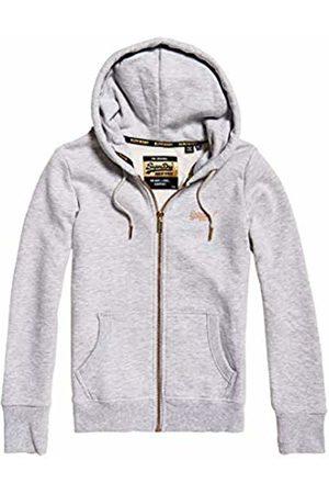 Superdry Women's Orange Label Elite Ziphood Sports Hoodie, (June Marl Q4k)