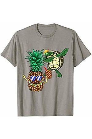 Sea Turtle Hawaiian Honu Dabbing Pineapple Sunglasses Aloha T-Shirt