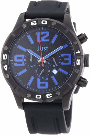 Just Watches Men's Watch Analog Quartz XL Rubber 48-S3978-BK-BL