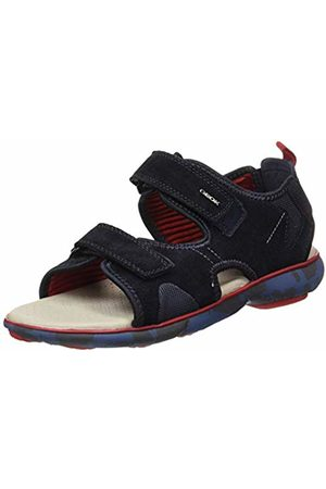 Geox Men's U Nebula L B Open Toe Sandals (Navy C4002) 10.5 UK