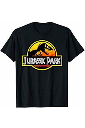 Jurassic Park Sunset Yellow Logo Outlined T-Shirt