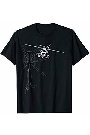 Designed For Flight CH-53 Super Stallion Helicopter Line Art T-Shirt
