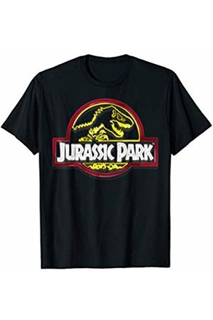Jurassic Park Neon Sign Fossil Logo T-Shirt