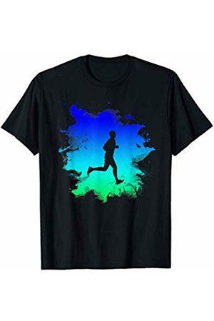 I Am A Runner CO Cool Splash Art Running T-Shirt