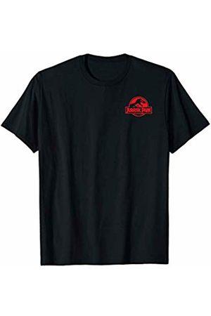 Jurassic Park Red Left Chest Logo T-Shirt