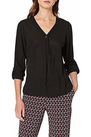 Dorothy Perkins Women's Twill ONE Button ROLL Sleeve Shirt 10