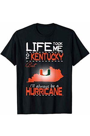 FanPrint Miami Hurricanes Life Took Me To T-Shirt - Apparel