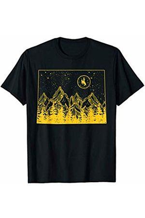 FanPrint Wyoming Cowboys Mountain State T-Shirt - Apparel