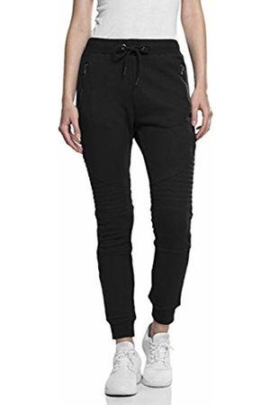 Urban classics Women's Ladies Melange Biker Sweatpants Trousers, blk