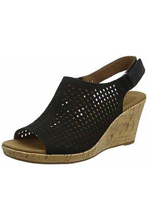 Rockport Women's Briah Perforated Sling Back Platform Sandals, ( Nubuck 001)