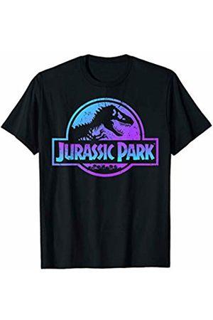 Jurassic Park Blue Purple Gradient Fossil Logo T-Shirt