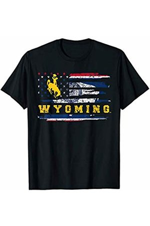 FanPrint Wyoming Cowboys State Flag T-Shirt - Apparel
