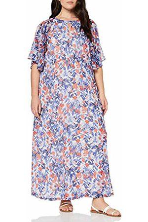 JUNAROSE Women's Jrcanta 2/4 Sleeve Ankle Dress-K, (Snow AOP)
