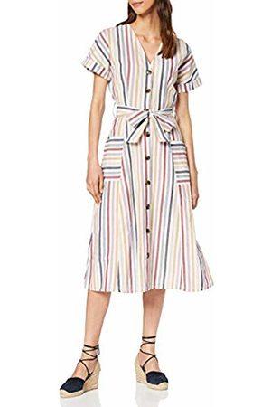 warehouse Women's Multi Stripe Button Through Dress, 99