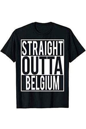 Straight Outta Clothing STRAIGHT OUTTA BELGIUM Country Name T-Shirt