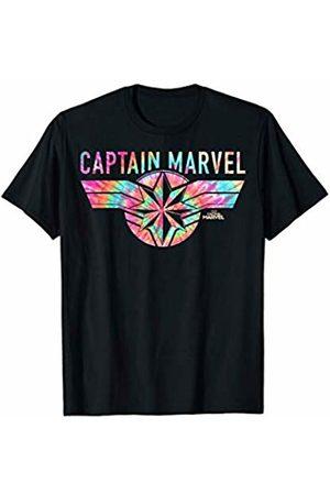 Marvel Captain Logo Banner Tie Dye Colors Graphic T-Shirt