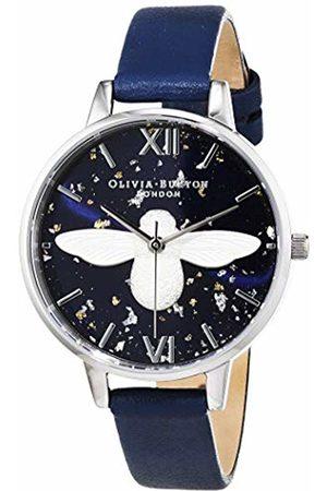 Olivia Burton Womens Analogue Quartz Watch with Leather Strap OB16GD04