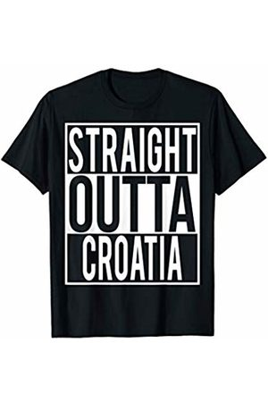 Straight Outta Clothing STRAIGHT OUTTA CROATIA Country Name T-Shirt