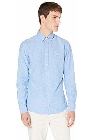 HUGO BOSS Men's Mabsoot Casual Shirt, Open 460