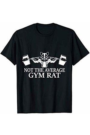 Funny Gym Bodybuilder Gift Designs T-shirts - Not the Average Gym Rat Power Sports Bodybuilder Gift T-Shirt