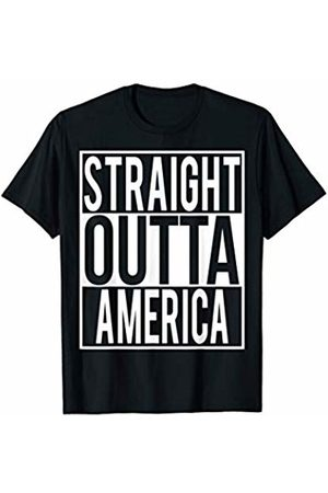 Straight Outta Clothing STRAIGHT OUTTA AMERICA Country Name T-Shirt