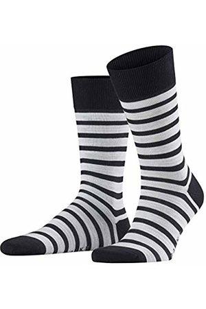 Falke Men's Even Stripe Socks, Dark Navy