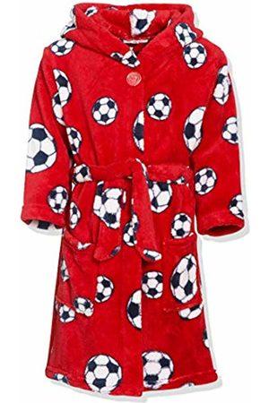 Playshoes Boy's Fleece-bademantel Fußball Bathrobe