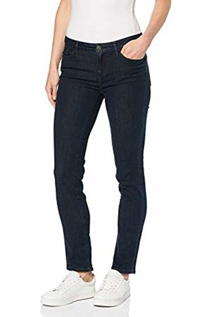 Eddie Bauer Women's Elysian Jeans - Slim Straight Leg - Slightly Curvy (Deep Rinse 395) W43/L31 (Size: 20)